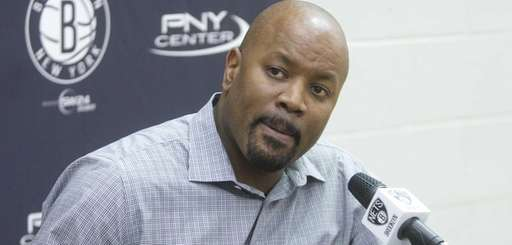 Nets general manager Billy King appears during a