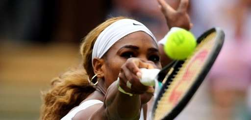 Serena Williams in action during her Ladies' Singles