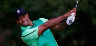 Tiger Woods of the United States watches his
