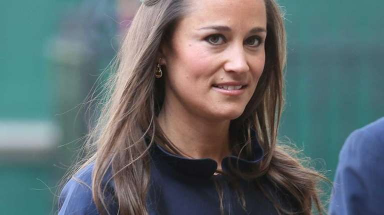 Pippa Middleton attends a memorial service for Sir
