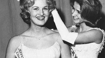 Diane Sawyer is shown being crowned Kentucky's Junior