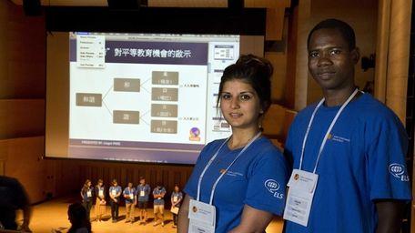 International students Tamara Anaie and Joagni Pare, of