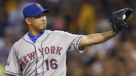 Mets starting pitcher Daisuke Matsuzaka gets a new