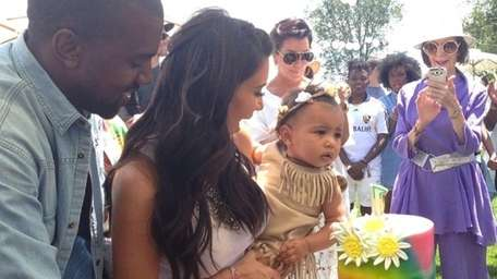 Kim Kardashian and Kanye West celebrate North West's
