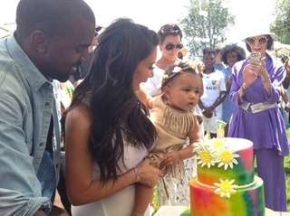 Kim Kardashian and Kanye West celebrate North West's
