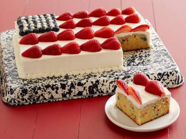 The festive flag cake recipe, perfect for the