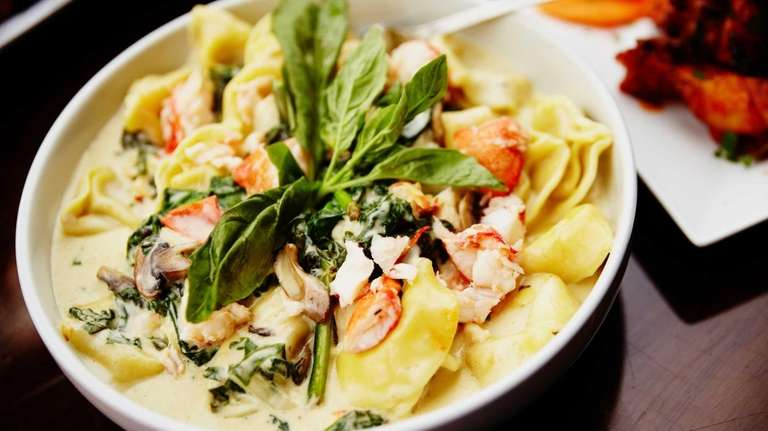 Lobster cheese tortelloni is made with Maine Lobster,