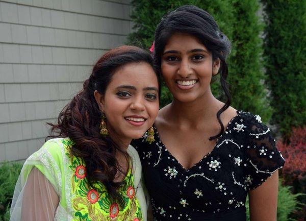 Sewanhaka High School seniors Ruth Bhatti, 17, and