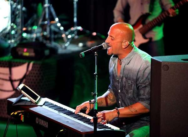 Michael DelGuidice and his band Big Shot, performing
