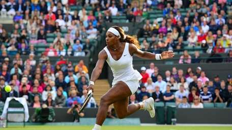 US player Serena Williams returns to France's Alize