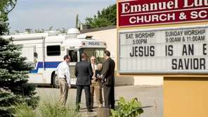 Police investigate a homicide at a Church on