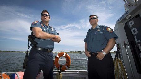 Officer Michael Larmony, left, and Lt Jimmy McAndrew