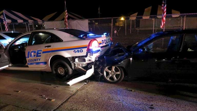 A Nassau County cruiser that police say was