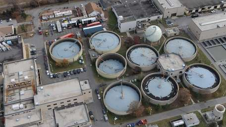 The Bay Park Sewage Treatment Plant is shown