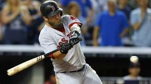 Mike Napoli #12 of the Boston Red Sox