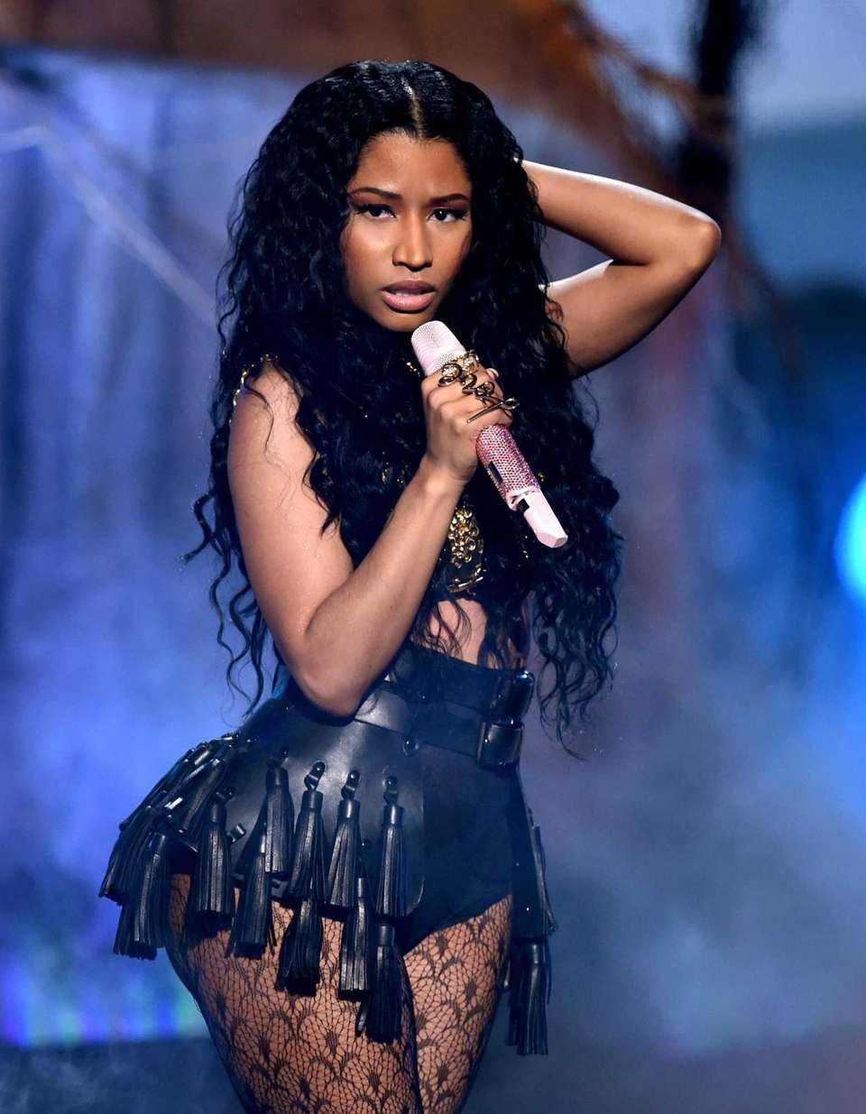 Nicki Minaj performs during the BET Awards at