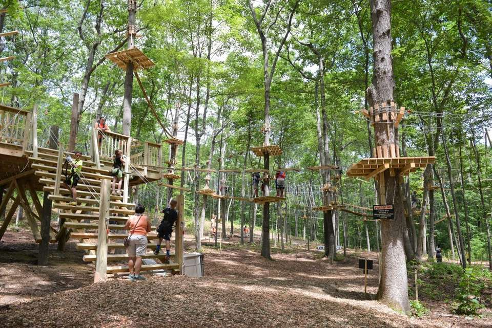 At the Adventure Park (75 Colonial Springs Rd.,