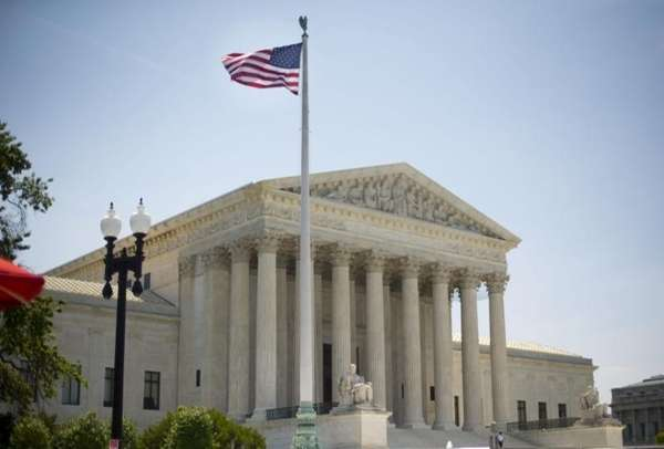 The Supreme Court building in Washington, Monday, June