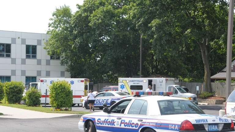 A man shot several times rang the doorbell