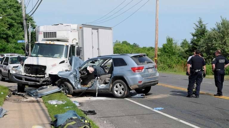 A Jeep driver died after a head-on crash