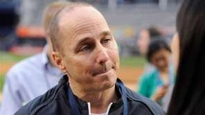 Yankees general manager Brian Cashman speaks to the