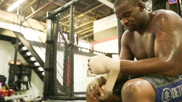 Eddie Gordon, from Freeport, trains in mixed martial