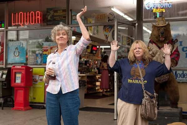 "Susan Sarandon, left, and Melissa McCarthy in ""Tammy."""