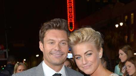 Ryan Seacrest and Julianne Hough arrive at the