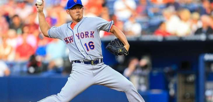 Daisuke Matsuzaka of the Mets pitches in the
