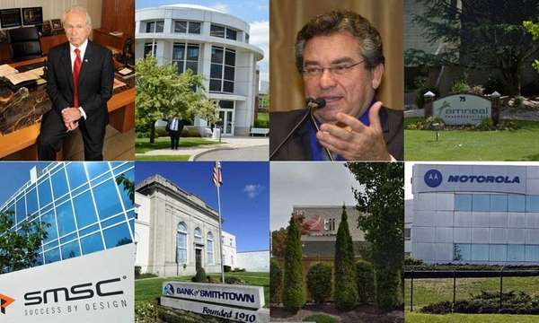 These eight firms fell from Newsday's Top Companies