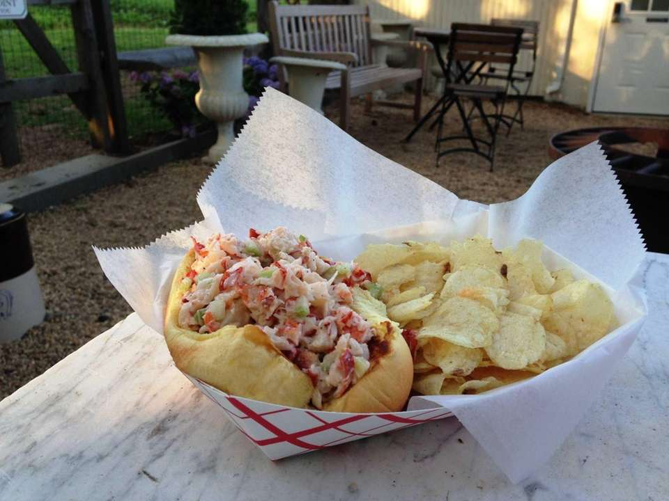Kerber's Farm, Huntington: Lobster with chickens. That's the