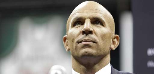 Jason Kidd speaks during a press conference announcing