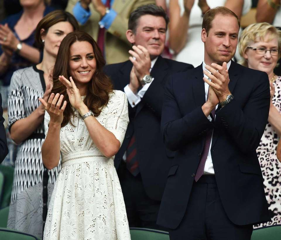 Duchess Kate and Prince William attend Day 9