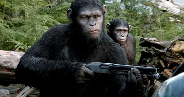 Caesar (Andy Serkis) is the leader of the ape nation in