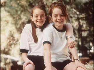 In 1998, Lohan played both roles of Hallie