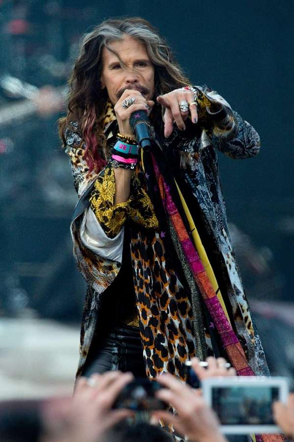 Steven Tyler of Aerosmith performs on Day 1