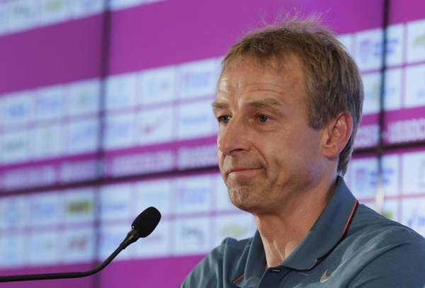 United States head coach Jurgen Klinsmann addresses the