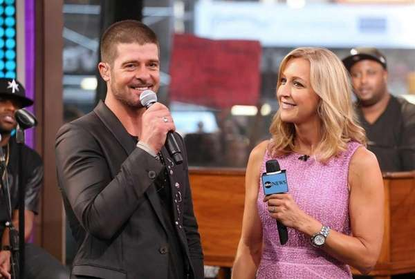 "Robin Thicke on ""Good Morning America"" on July"
