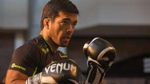 Lyoto Machida trains during UFC 175 open workouts