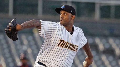 Yankees starter CC Sabathia pitches in a rehab