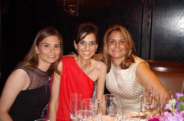 Eleni Vavas, center, a doctor at North Shore
