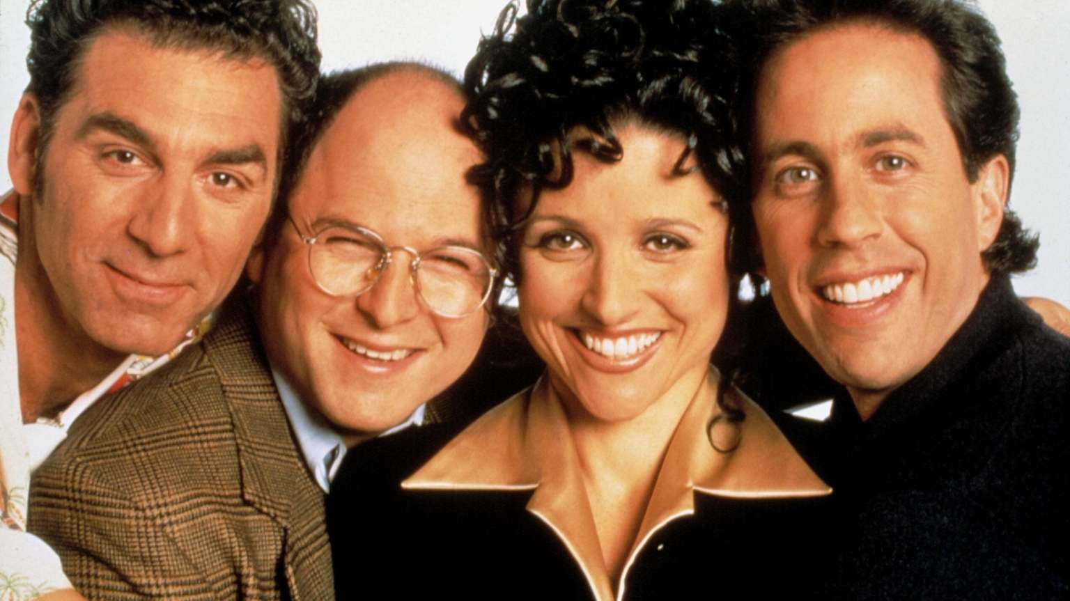 Michael Richards, Jerry Seinfeld, Julia Louis Dreyfuss and