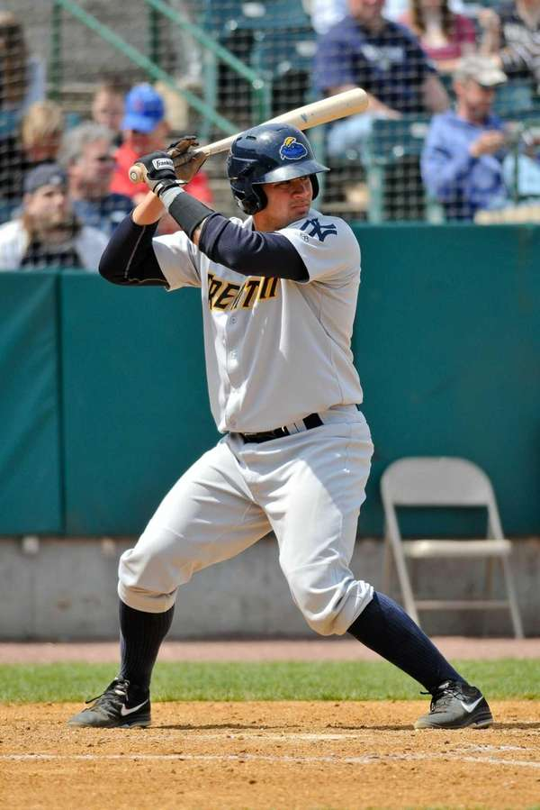 Gary Sanchez of the Trenton Thunder bats during
