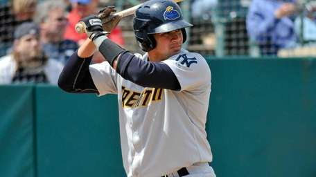Gary Sanchez of the Trenton Thunder bats during