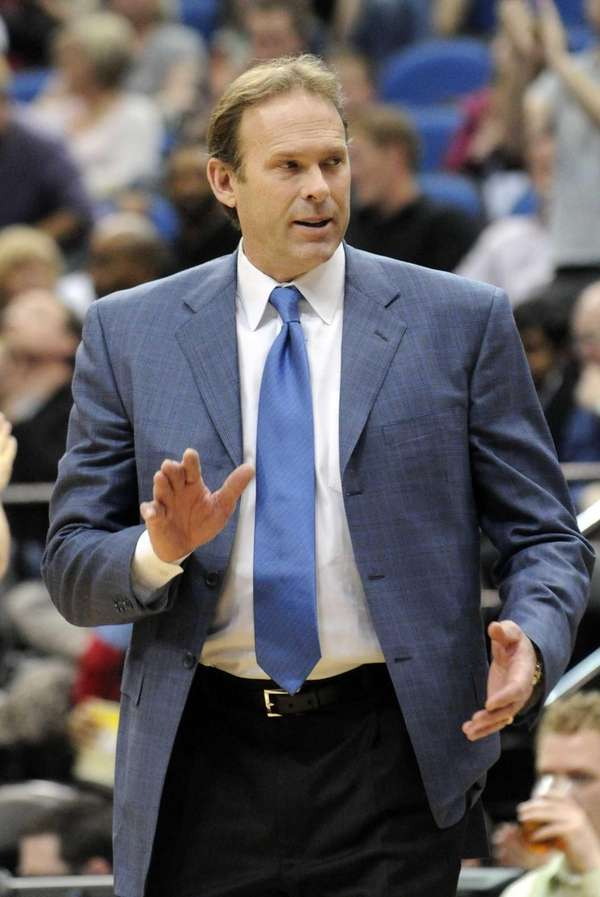 Then-Minnesota Timberwolves head coach Kurt Rambis reacts during