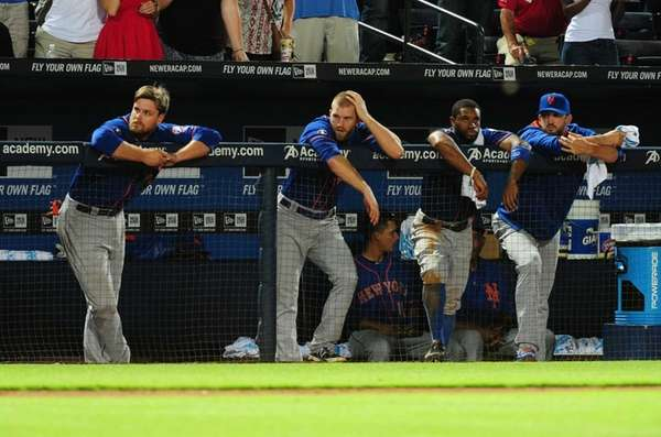 Lucas Duda, Eric Campbell, Eric Young, Jr., and