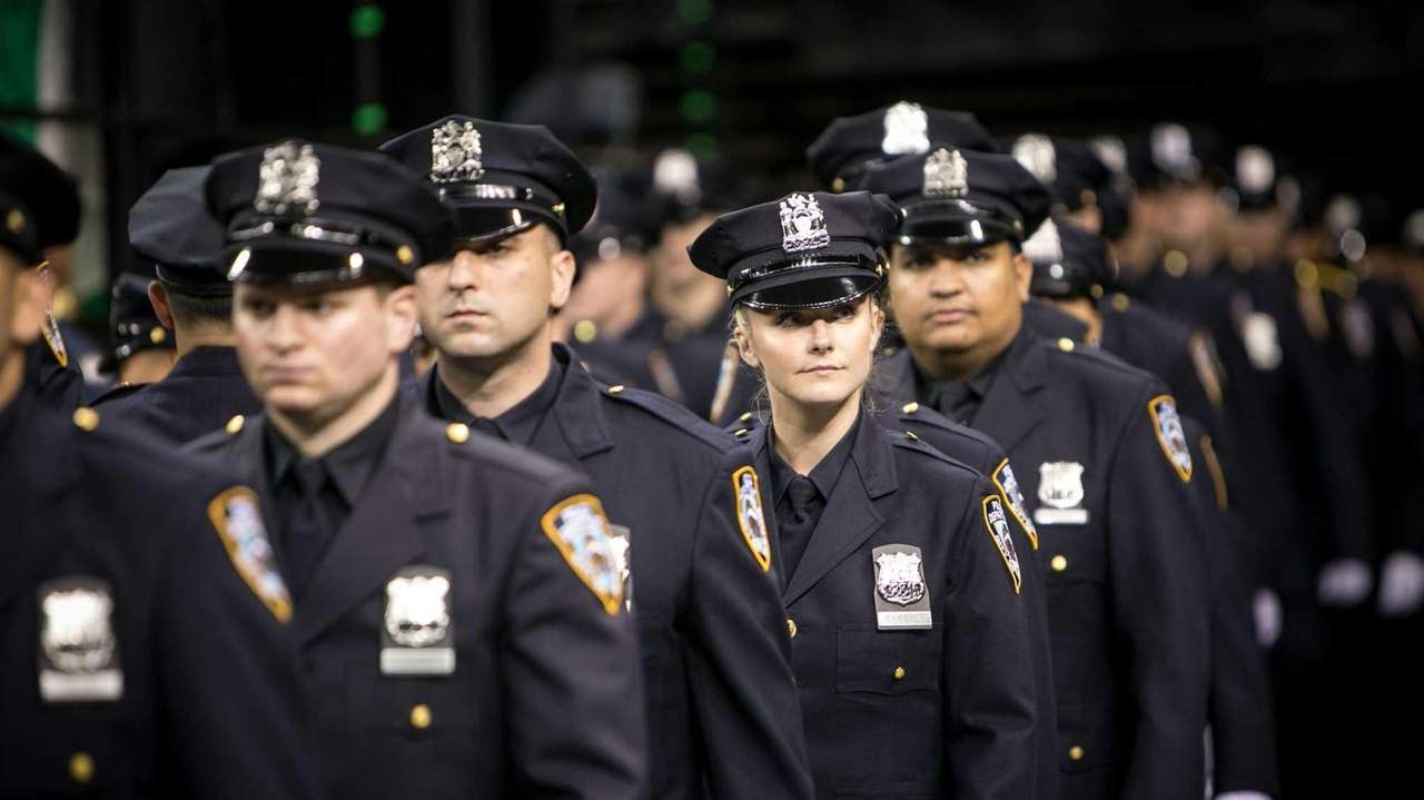 Police officers graduate at Madison Square Garden in
