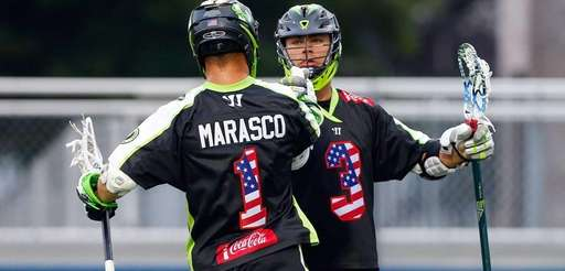 JoJo Marasco of the Lizards celebrates a goal