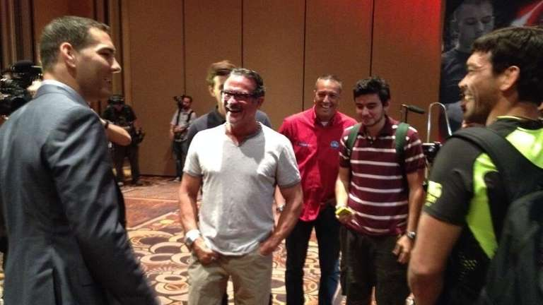 UFC middleweight champion Chris Weidman, left, from Long