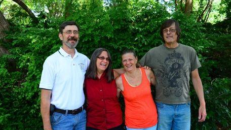 From left, Billy Plume, Helen Boeke, Irene Ann